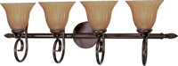 Picture for category Bathroom Vanity 4 Light With Copper Bronze Finish Metal Medium Base 33 inch 400 Watts