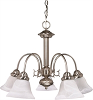 Picture for category Chandeliers 5 Light With Brushed Nickel Finish Metal Medium Base 24 inch 300 Watts