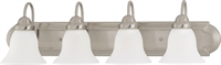 Picture for category Bathroom Vanity 4 Light With Brushed Nickel Finish Metal Medium Base 30 inch 400 Watts