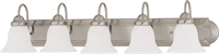 Picture for category Bathroom Vanity 5 Light With Brushed Nickel Finish Metal Medium Base 36 inch 500 Watts