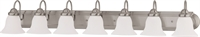 Picture for category Bathroom Vanity 7 Light With Brushed Nickel Finish Metal Medium Base 48 inch 700 Watts