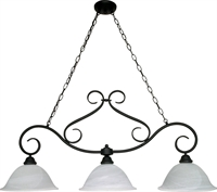 Picture for category Island Lighting 3 Light With Textured Black Finish Metal Medium Base 12 inch 300 Watts