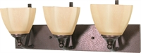 Picture for category Bathroom Vanity 3 Light With Copper Bronze Finish Metal Medium Base 22 inch 300 Watts