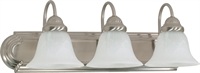 Picture for category Bathroom Vanity 3 Light With Brushed Nickel Finish Metal Medium Base 24 inch 300 Watts