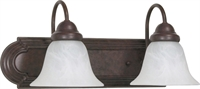 Picture for category Bathroom Vanity 2 Light With Old Bronze Finish Metal Medium Base 18 inch 200 Watts