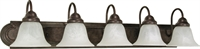 Picture for category Bathroom Vanity 5 Light With Old Bronze Finish Metal Medium Base 36 inch 500 Watts