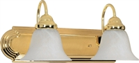 Picture for category Bathroom Vanity 2 Light With Polished Brass Finish Metal Medium Base 18 inch 200 Watts