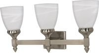 Picture for category Bathroom Vanity 3 Light With Brushed Nickel Finish Steel GU24 21 inch 117 Watts