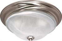 Picture for category Flush Mounts 3 Light With Brushed Nickel Finish Iron Medium Base 16 inch 180 Watts
