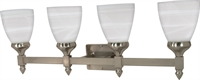 Picture for category Bathroom Vanity 4 Light With Brushed Nickel Finish Iron Medium Base 29 inch 400 Watts