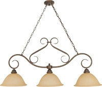 Picture for category Island Lighting 3 Light With Sonoma Bronze Finish Metal Medium Base 12 inch 180 Watts