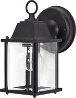 Picture for category Wall Sconces 1 Light With Textured Black Finish Aluminum Medium Base 4 inch 60 Watts