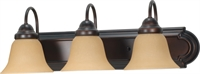 Picture for category Bathroom Vanity 3 Light With Mahogany Bronze Finish Metal Medium Base 24 inch 300 Watts
