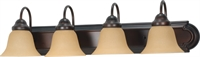 Picture for category Bathroom Vanity 4 Light With Mahogany Bronze Finish Metal Medium Base 30 inch 400 Watts