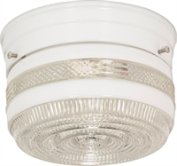 Picture for category Flush Mounts 1 Light With White Tones Finish Medium Base Bulb Type 6 inch 60 Watts