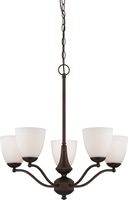 Picture for category Chandeliers 5 Light With Prairie Bronze Finish Iron Medium Base 25 inch 300 Watts
