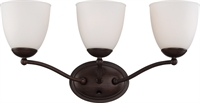 Picture for category Bathroom Vanity 3 Light With Prairie Bronze Finish Iron Medium Base 21 inch 300 Watts