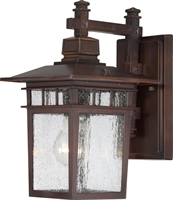 Picture for category Wall Sconces 1 Light With Rustic Bronze Finish Aluminum Medium Base 7 inch 100 Watts