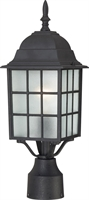 Picture for category Outdoor Post Light 1 Light With Textured Black Finish Aluminum Medium Base 6 inch 100 Watts