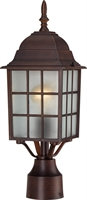 Picture for category Outdoor Post Light 1 Light With Rustic Bronze Finish Aluminum Medium Base 6 inch 100 Watts