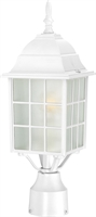 Picture for category Outdoor Post Light 1 Light With White Finish Aluminum Medium Base 6 inch 100 Watts