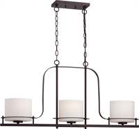 Picture for category Island Lighting 3 Light With Venetian Bronze Finish Metal Medium Base 6 inch 180 Watts