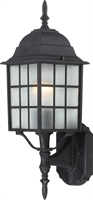 Picture for category Wall Sconces 1 Light With Textured Black Finish Aluminum Medium Base 6 inch 100 Watts
