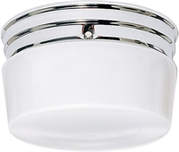 Picture for category Flush Mounts 2 Light With Polished Chrome Finished Medium Base 8 inch 120 Watts