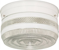 Picture for category Flush Mounts 2 Light With White Tones Finish Medium Base Bulb Type 8 inch 120 Watts