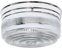 Picture for category Flush Mounts 2 Light With Polished Chrome Finished Medium Base 10 inch 120 Watts