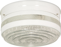 Picture for category Flush Mounts 2 Light With White Finished Medium Base Bulb Type 10 inch 120 Watts