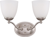 Picture for category Bathroom Vanity 2 Light With Brushed Nickel Finish Iron Medium Base 15 inch 200 Watts