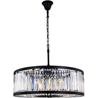 Picture for category Elegant Lighting 1233D35MB/RC Chandeliers Matte Black Steel Chelsea