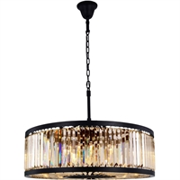 Picture for category Elegant Lighting 1233D35MB-GT/RC Chandeliers Matte Black Steel Chelsea