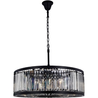 Picture for category Elegant Lighting 1233D35MB-SS/RC Chandeliers Matte Black Steel Chelsea