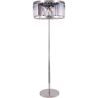 Picture for category Elegant Lighting 1233FL25PN/RC Floor Lamps Polished Nickel Steel Chelsea