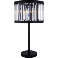 Picture for category Elegant Lighting 1233TL18MB/RC Table Lamps Matte Black Steel Chelsea