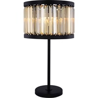Picture for category Elegant Lighting 1233TL18MB-GT/RC Table Lamps Matte Black Steel Chelsea