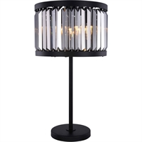 Picture for category Elegant Lighting 1233TL18MB-SS/RC Table Lamps Matte Black Steel Chelsea