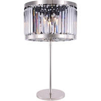 Picture for category Elegant Lighting 1233TL18PN/RC Table Lamps Polished Nickel Steel Chelsea