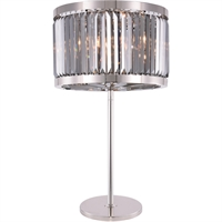 Picture for category Elegant Lighting 1233TL18PN-SS/RC Table Lamps Polished Nickel Steel Chelsea