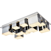 Picture for category Elegant Lighting 5100F12C Flush Mounts Chrome Aluminum and Metal Glasgow