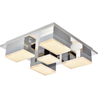 Picture for category Elegant Lighting 5100F5C Flush Mounts Chrome Aluminum and Metal Glasgow