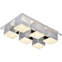 Picture for category Elegant Lighting 5100F6C Flush Mounts Chrome Aluminum and Metal Glasgow