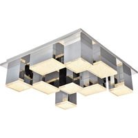 Picture for category Elegant Lighting 5100F9C Flush Mounts Chrome Aluminum and Metal Glasgow