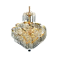 Picture for category Elegant Lighting V8052D18G/RC Mini Chandeliers Gold Spiral