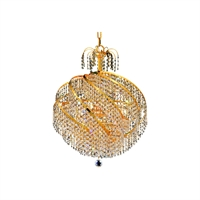 Picture for category Elegant Lighting V8052D22G/RC Mini Chandeliers Gold Spiral