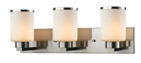 Picture for category Bathroom Vanity 3 Light With Brushed Nickel Finish Steel Medium Base Bulb 23 inch 300 Watts