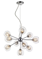 Picture for category Chandeliers 10 Light With Chrome Finish Steel Material G9 Bulb 23 inch 400 Watts