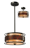 Picture for category Pendants 3 Light With Jaa Bronze Finish Steel Medium Base Bulb 14 inch 300 Watts